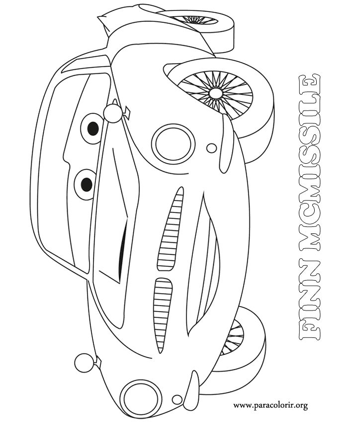 disney cars 2 finn mcmissile coloring pages | A beautiful coloring page of Finn McMissile, a master ...