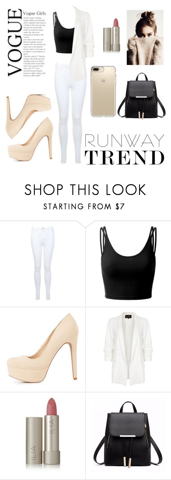 """""""Cool Girl"""" by eva-tabert ❤ liked on Polyvore featuring Miss Selfridge, Doublju, Charlotte Russe, River Island, Ilia and Speck"""