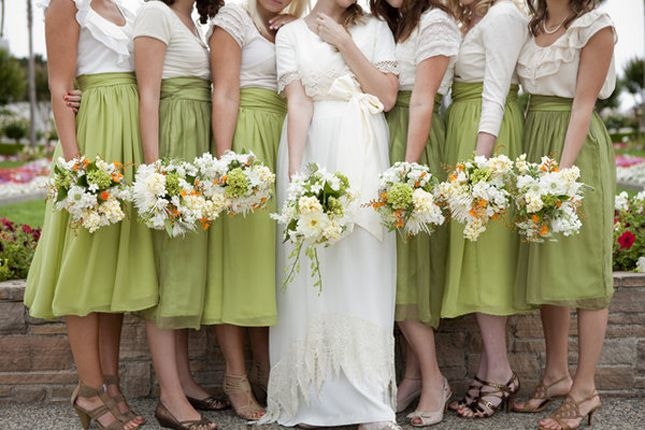 2 piece bridesmaid skirt shirt | Wedding Trends} : Bridesmaids in Skirts – how to styled ...
