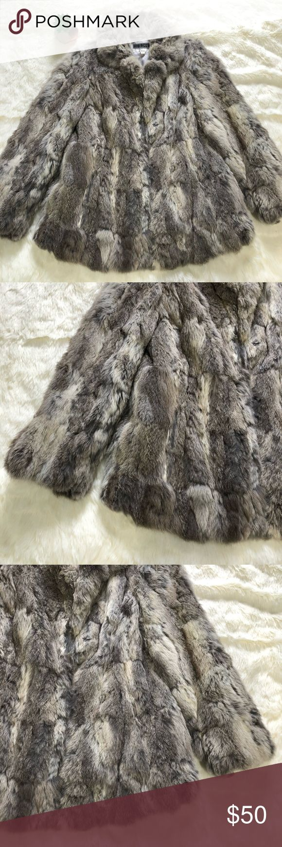 Vintage Rabbit Fur Coat Vintage Rabbit fur coat. Missing some hair on the back of the left sleeve (as pictured) and by the wrist as well. Size small D.D Sloan Jackets & Coats