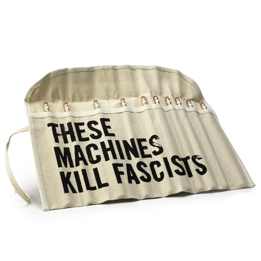 """""""THESE MACHINES KILL FASCISTS"""" pencils by You & Me the Royal We, available on Wantful"""