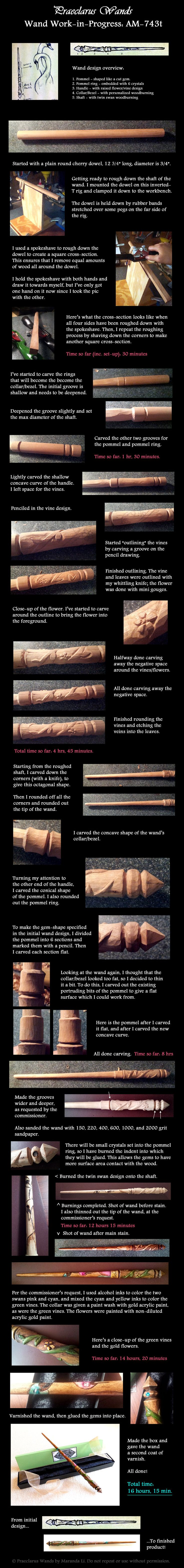 Twin Swans wand - WIP step by step by PraeclarusWands on DeviantArt