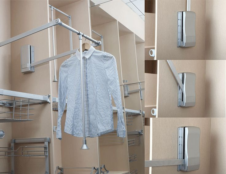 Chrome Plated Pull Down Wardrobe Rail,Closet Accessories - Buy ...