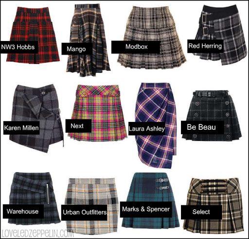 YoQueSe loves Led Zeppelin: Street Girl: abrigos de pelo, pantalones de cuero y faldas escocesas