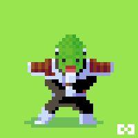 "Harmonie Games, Pixel Art : ""Guldo"" from Dragon Ball Z. Follow me on :  https://www.facebook.com/harmonie.games"