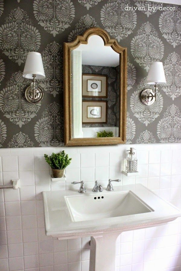 103 best images about small bathroom on pinterest for Small hall bathroom remodel ideas