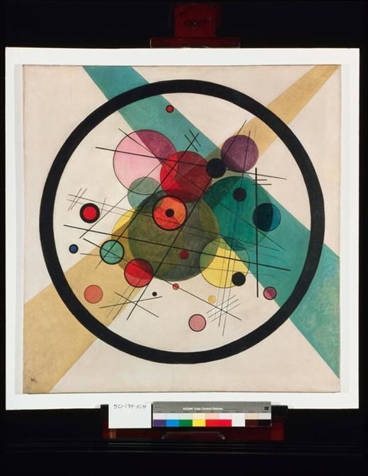 Wassily Kandinsky, Circles in a circle, 1923 Courtesy of the Philadelphia Museum of Art, The Louise and Walter Arensberg Collection, 1950