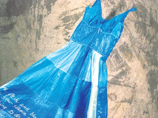 Blue dress judith mason 70s