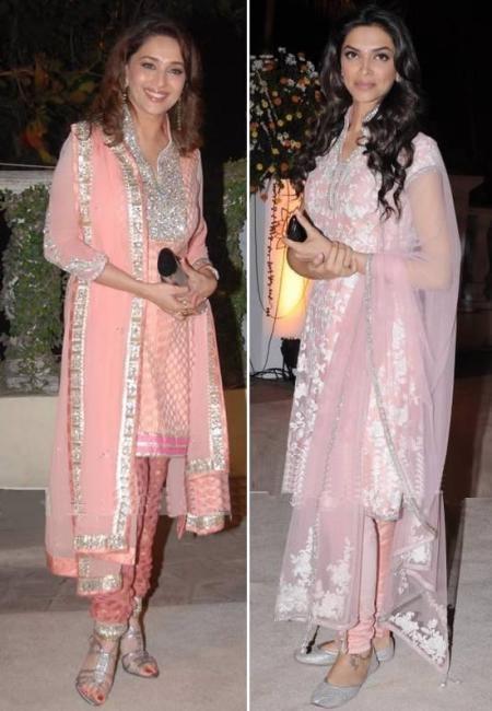 Madhuri & Deepika pink Salwar Kameez | I want this aaal ...