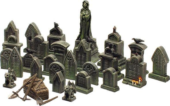 Graveyard! 20 Euro (~$30) 23 x tombstone 1 x graveyard statue 3 x tools (shovel…