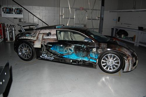custom vehicle wrap on a bugatti veyron in las vegas nv marky vehicle. Black Bedroom Furniture Sets. Home Design Ideas