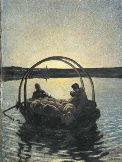 Ave Maria a trasbordo (I versione), 1882, Olio su tela, Zurigo, collezione privata