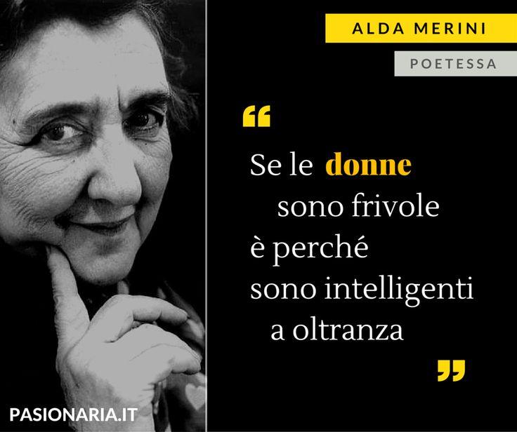 La poetessa Alda Merini è la donna scelta da Angela in occasione della Giornata Internazionale della Donna #8marzo #PasionariaIT #femminismo #feminism #aldamerini