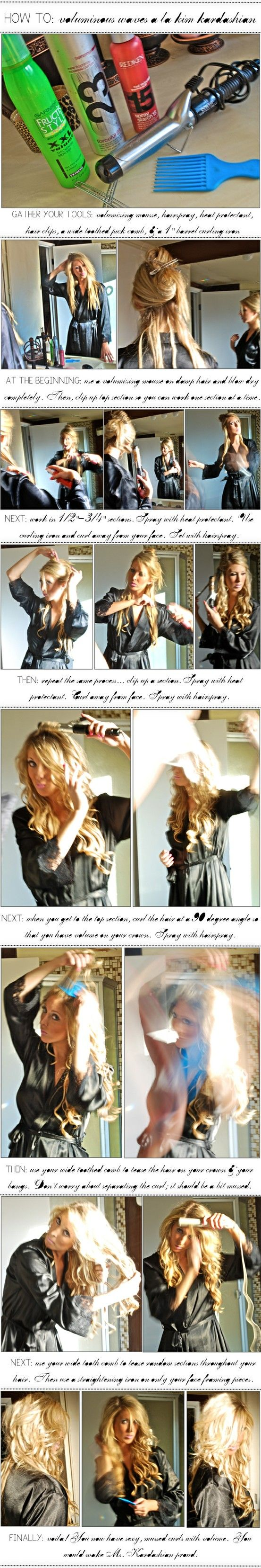 How To: Voluminous Waves I'm pinning this in case I really do have the patience to grow my hair out again...