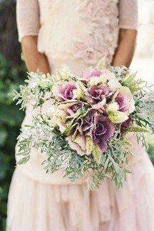 Cabbage inspired alternative wedding bouquet  (BridesMagazine.co.uk)