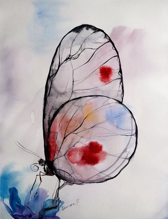 He encontrado este interesante anuncio de Etsy en https://www.etsy.com/es/listing/235593330/butterfly-watercolor-painting-original