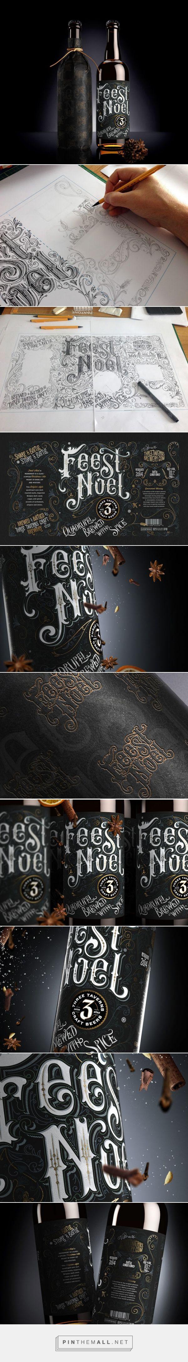 Feest Noel #ale #packaging designed by Anton Burmistrov - http://www.packagingoftheworld.com/2015/03/feest-noel.html