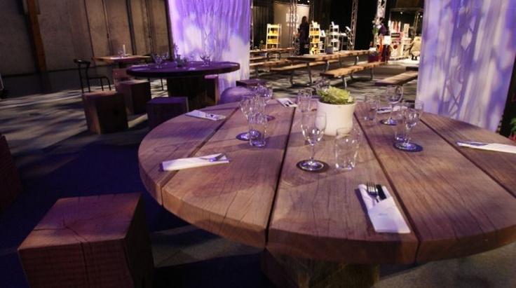 table ronde en bois massif design recycl thors design dk bistro pinterest tables. Black Bedroom Furniture Sets. Home Design Ideas