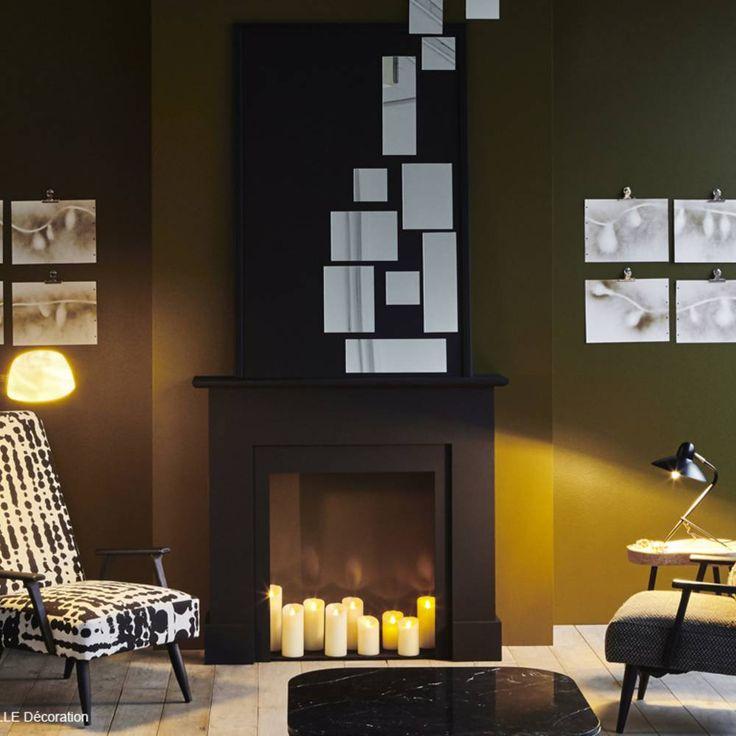 optez pour une fausse chemin e d coration int rieure pinterest chemin e fausse et. Black Bedroom Furniture Sets. Home Design Ideas