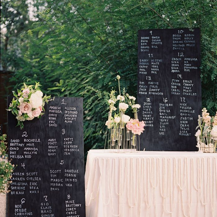 chalkboard seating assignments via snippet and ink
