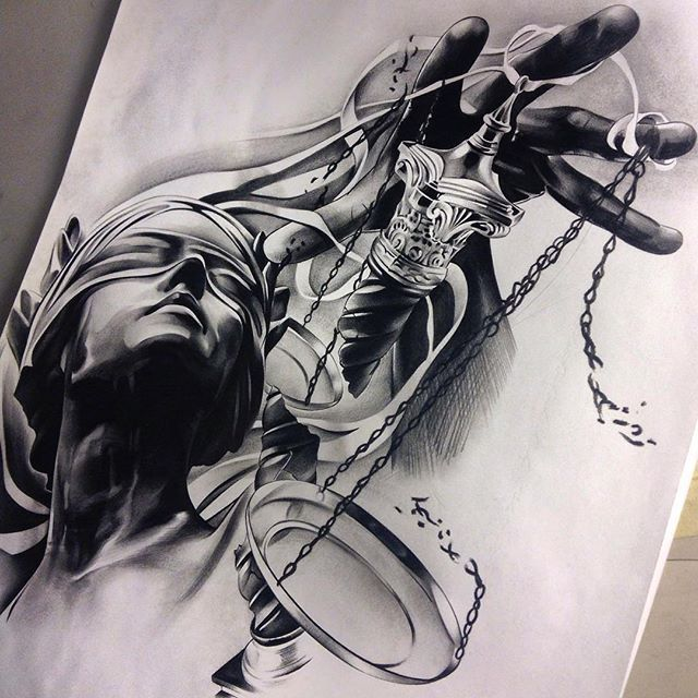 """""""Finished up this piece for a client of mine! Can't wait to tattoo it!"""""""