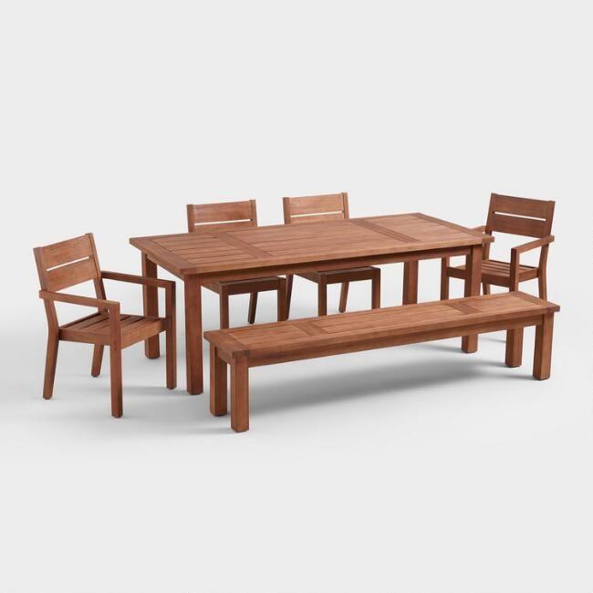 World Market Eucalyptus Patio Furniture