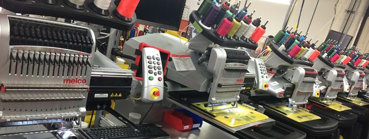 Computerized Embroidery Machines with Multi-Head Applications