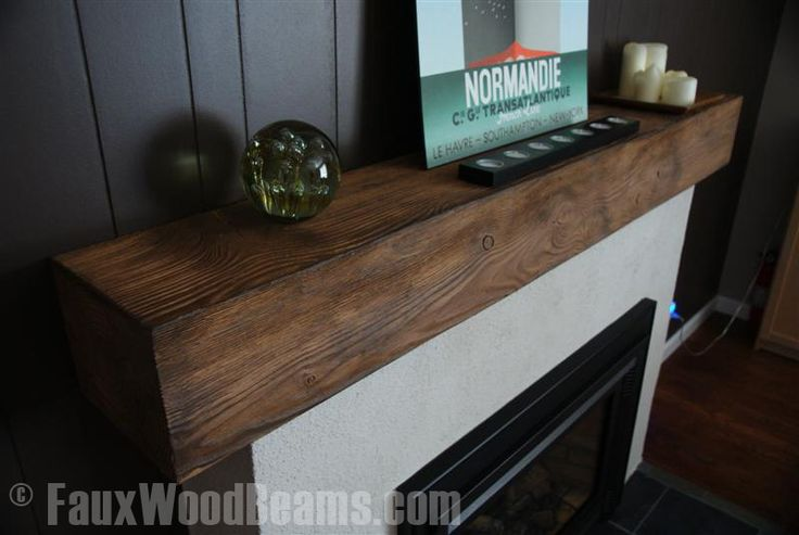 wood fireplace mantels for sale southern california | Wood Beam Mantle
