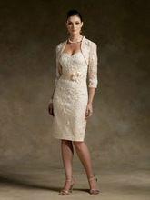 Champagner plus größe frauen kleid Spitze Mutter der Braut kleider abendkleider mit jacke mutter der braut kleider //Price: $US $115.20 & FREE Shipping //     #dazzupde