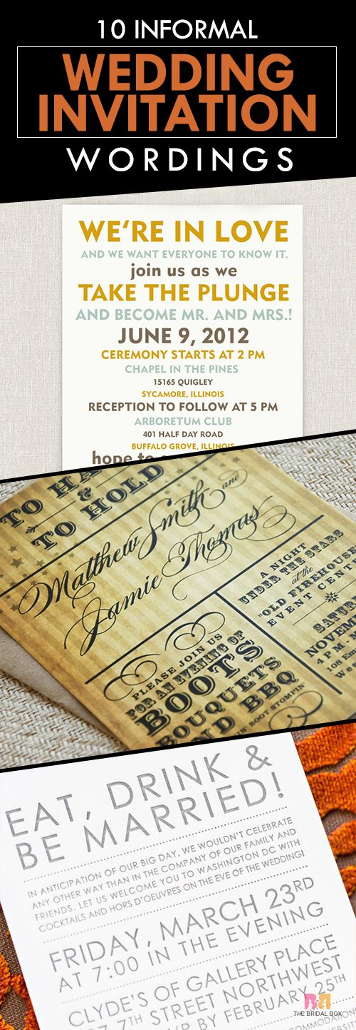 casual evening wedding invitation wording%0A    Funny And Inspiring Informal Wedding Invitation Wordings