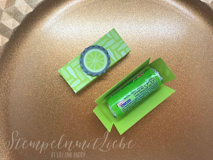 Stampin Up - Mini-Explosionsbox - Verpackung - Limette - Designerpapier Einfach spritzig ♥ StempelnmitLiebe