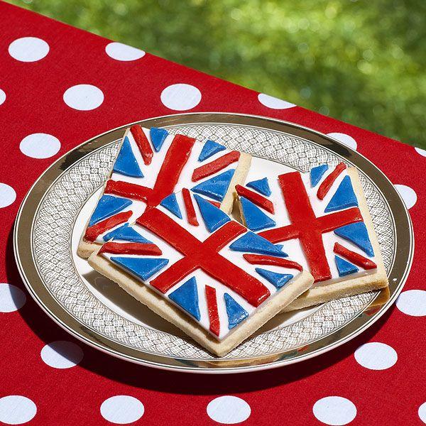 How to Make Union Jack Cookies #baking #cookies #queensbirthday #unionjack