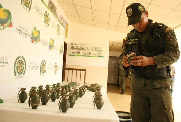 La Policía Metropolita de Popayán incautó material de guerra del Eln, en medio de un operativo adelantado en zona rural de la capital del Cauca.