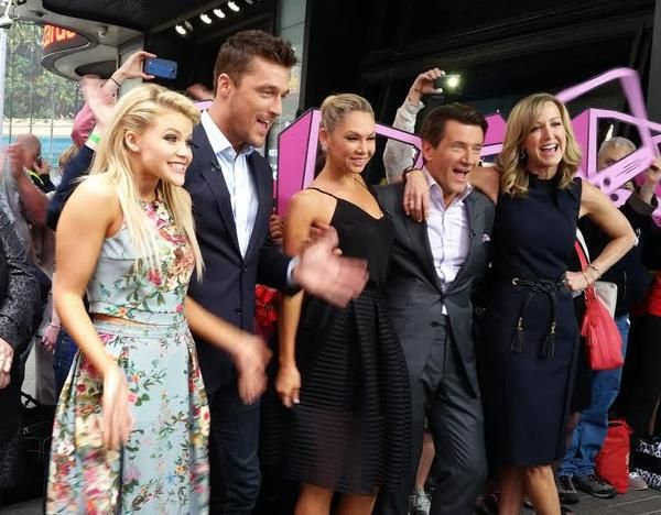 """Dancing with the Stars"" booted couples Witney Carson, Chris Soules, Kym Johnson and Robert Herjavec join GMA in Times Square!"
