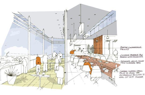 Hatcher Prichard Architects Bristol Cardiff   Architectural Sketches / Cafe