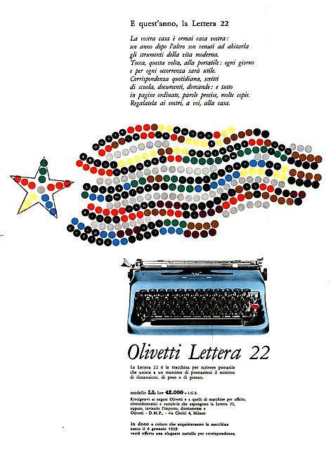 designed by Giovanni Pintori for the Olivetti Lettera 22 - 1958