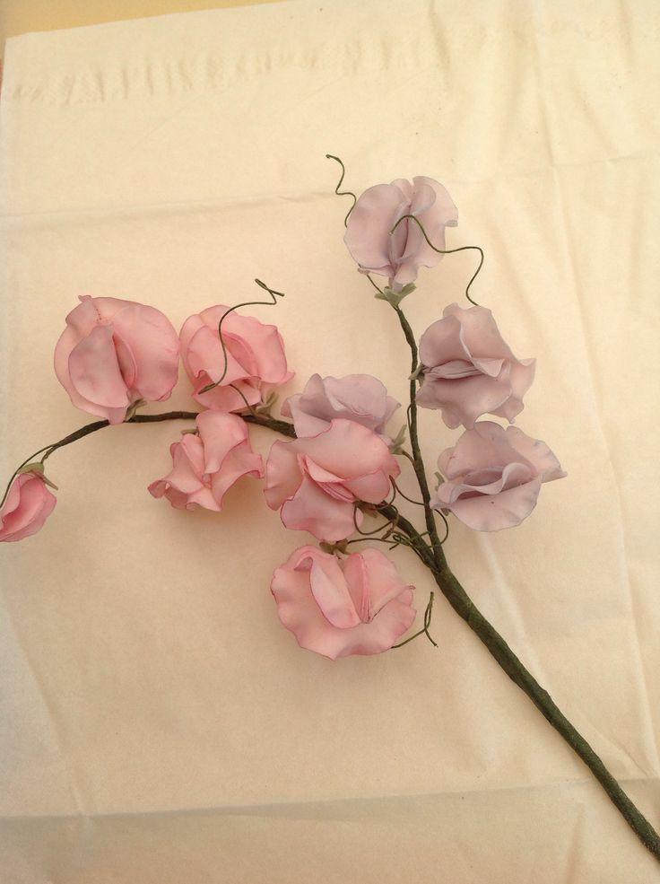 Simple sweet pea flowers