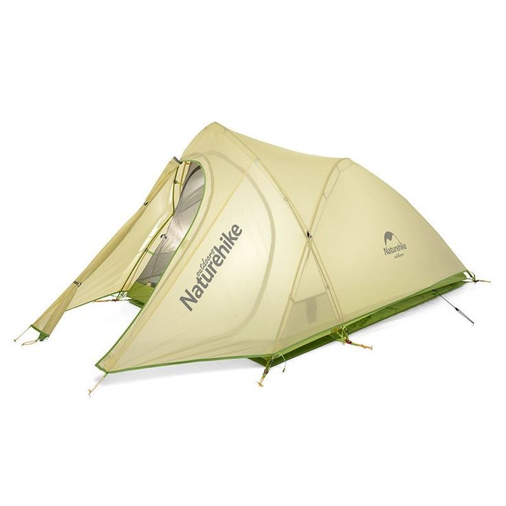NatureHike New arrival Tent Camping 2 Person Waterproof Double Layer Outdoors Camping Durable Gear Picnic Tents Green Grey