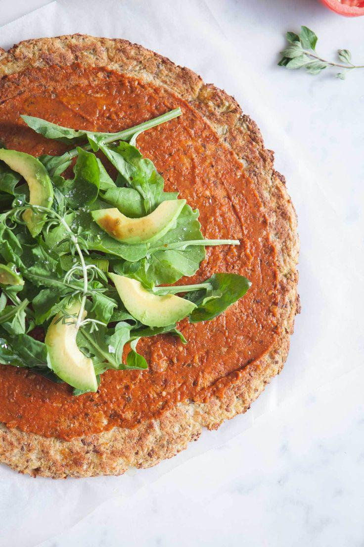 vegan & gluten-free cauliflower pizza