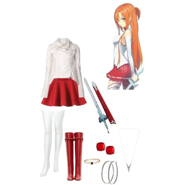 """Asuna (SAO) Inspired outfit"" by xcherry on Polyvore"