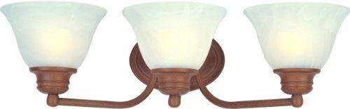 Maxim Lighting 2688MRCS 3 Light Bath, Country Stone Finish - Marble Glass by Maxim Lighting. $21.81. NULL