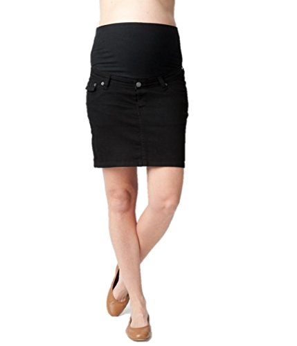 Ripe Maternity Womens Maternity Short Denim Skirt Black Small >>> Learn more by visiting the image link.
