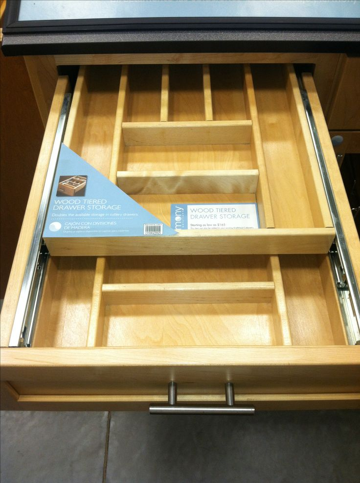 double layer drawer organization or tool drawer junk drawer supply drawer or utensil - Cabinet Organizers Kitchen