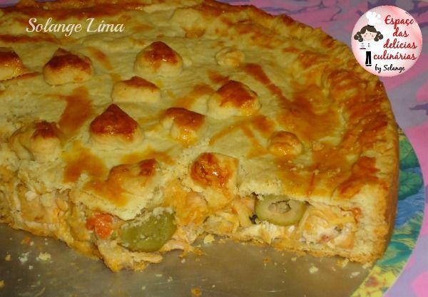 Torta de frango e requeijão com massa podre - Espaço das delícias culinárias