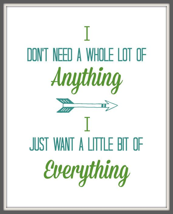 "Keith Urban Lyric Art Print ""Little bit of everything""  8x10 Lyric art print,Song art, Typography Print, Wall Decor, Quote Print"