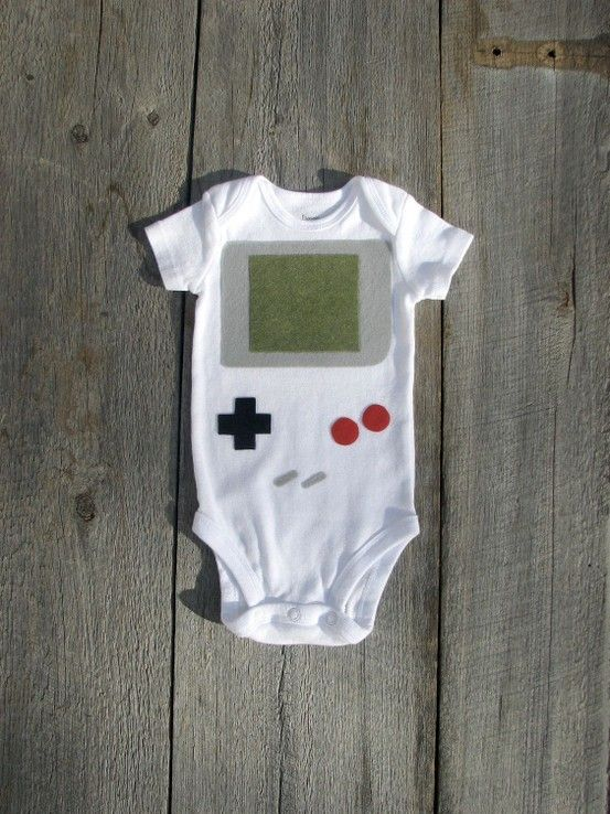 8 Bit Nerdy Baby Clothes [4 Images]