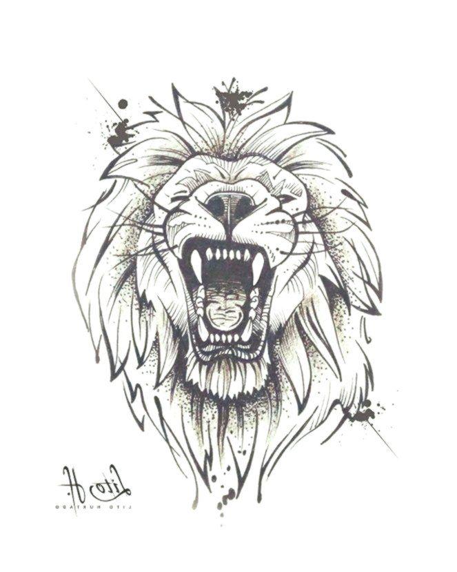 Skizze Skketchtattoo Tattoos Zeichnen Lowentattoo Lion