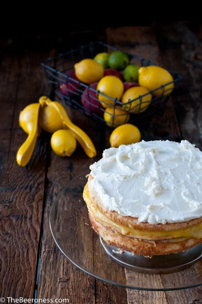 Lemon Beer Dream Cake - This looks delicious! Try it out with our Single-Wide IPA and Tank 7