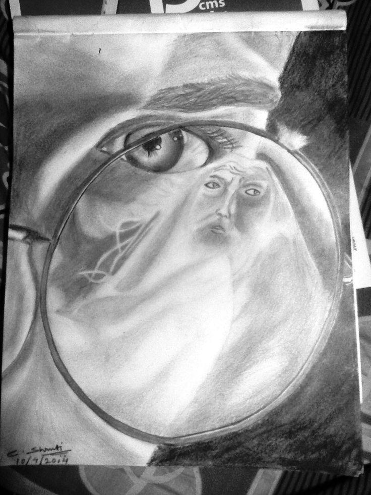 Dumbledore in glasses....hp 6 poster....
