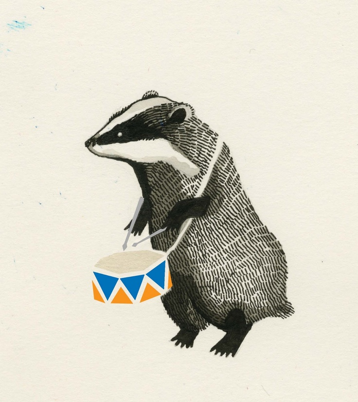 Badger who is singing the badger song.